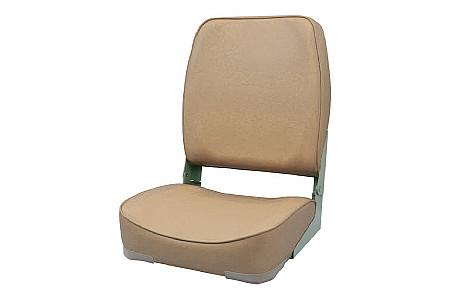 Кресло складное пластиковое с мягкими накладками, песочный