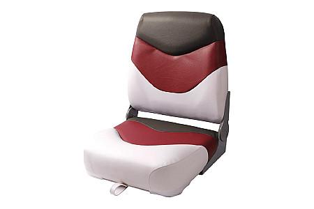 Кресло складное пластиковое с мягкими накладками, белый/красный/угольный