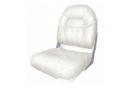 Кресло складное пластиковое с мягкими накладками, белый