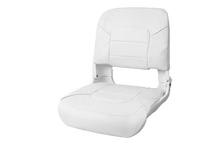 Кресло складное пластиковое с мягкими накладками,белый