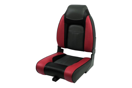 Кресло складное пластиковое с мягкими накладками, красный/угольный/черный