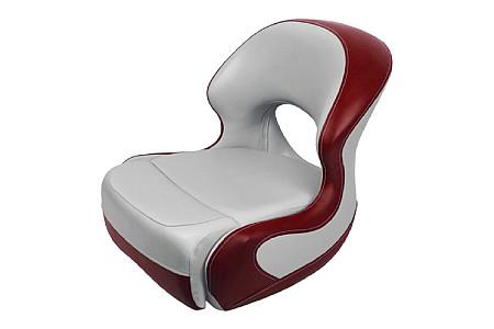 Кресло пластиковое с мягкой обшивкой, серый/красный
