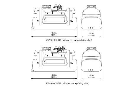 Опрыскиватель для квадроцикла SeaFlo, 3GPM, 80PSI, 12V
