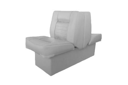 Кресло спаренное пластиковое с мягкой обшивкой, серый