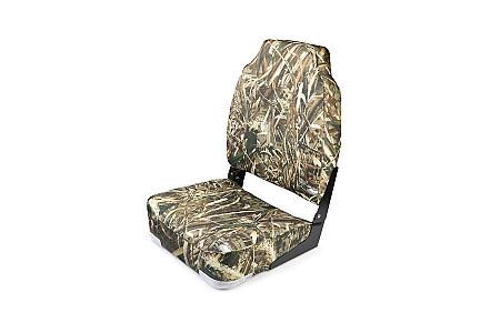 Кресло складное алюминиевое с мягкими накладками, камуфляж лето