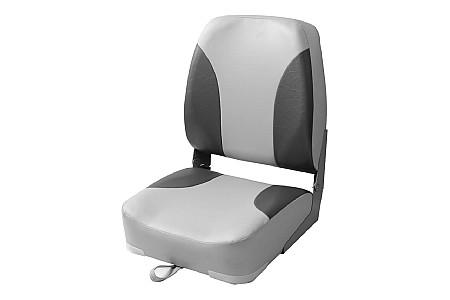 Кресло складное алюминиевое с мягкими накладками, серый/угольный