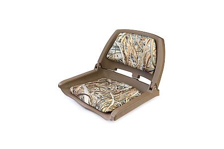 Кресло складное пластиковое с мягкими накладками, камуфляж осень