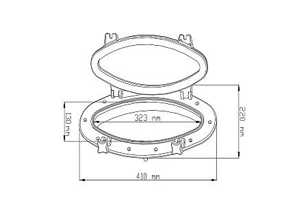 Иллюминатор SeaFlo, 323Х130 (410Х220) мм